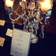 Bling on the place card table
