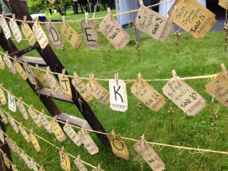 Place cards display