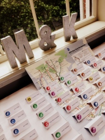 Escort cards based on NYC subway system
