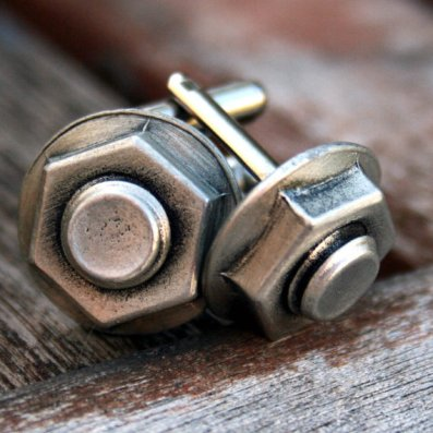 nut bolt cuff links