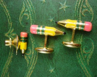 pencils cuff links