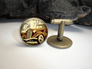 vintage car cuff links